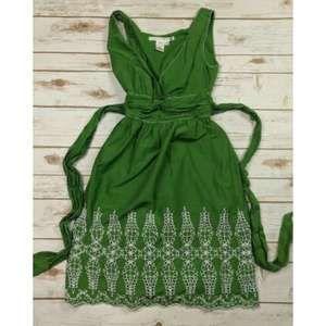 Max Studio Green Sleeveless Dress Size XS